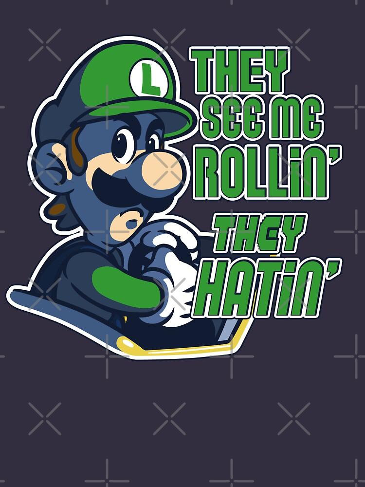 Luigi Mk8 Ridin Dirty Unisex T Shirt A T Shirt Of