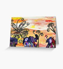 Indian Elephants Greeting Card