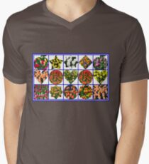 Just  For Fun - Crazy Tulips Collage Mens V-Neck T-Shirt