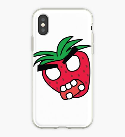 angry zombie strawberry iPhone Case