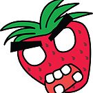 angry zombie strawberry by shortstack