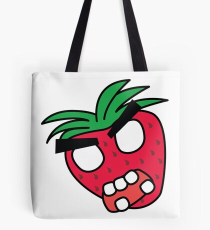 angry zombie strawberry Tote Bag