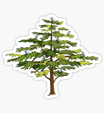 Heron Tree Sticker