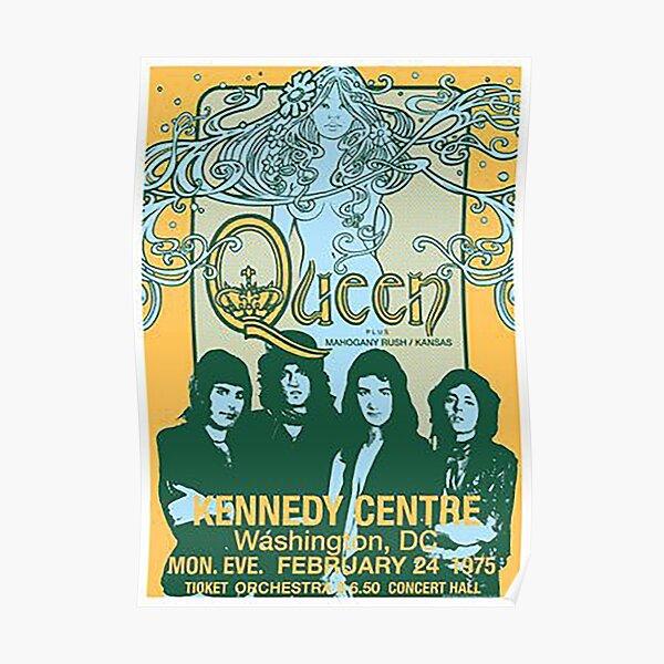 Vintage Queen Band Concert Poster