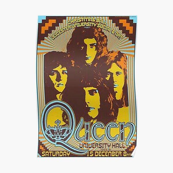 Vintage Queen University Hall Concert Poster