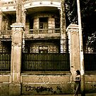 Girl in Dress by Abandoned Building (Lima, Peru) by bradackerman