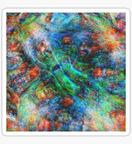 Mermaid #DeepDream Sticker