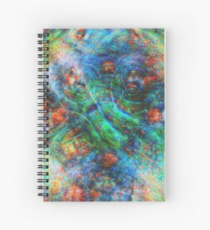 Mermaid #DeepDream Spiral Notebook