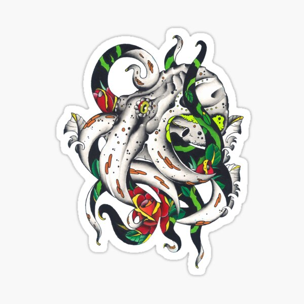 Rosey tentacles Sticker