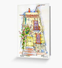 28 Rue des Remparts, Trausse Minervois Greeting Card