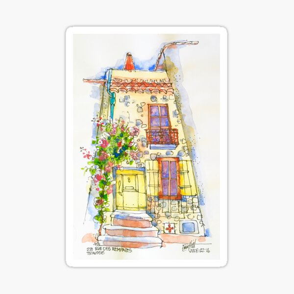 28 Rue des Remparts, Trausse Minervois Sticker