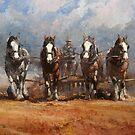 Heavy Horses Harrowing by Tanya Zaadstra