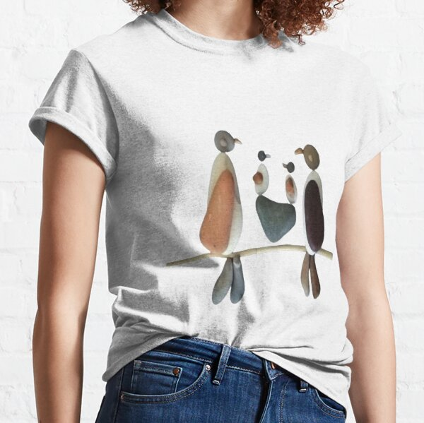 A family of birds made of pebble : best gift for your family in Christmas  Classic T-Shirt