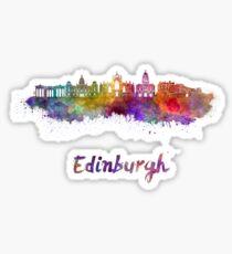 Edinburgh skyline in watercolor Sticker
