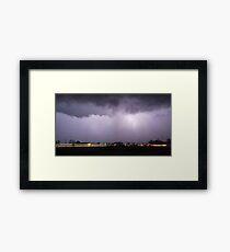 Texas Lightning Framed Print