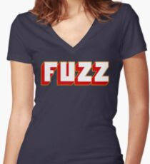 Fuzz Women's Fitted V-Neck T-Shirt