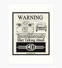 Lámina artística Advertencia MG Propietario