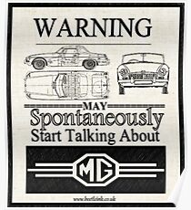 Warning MG Owner Poster