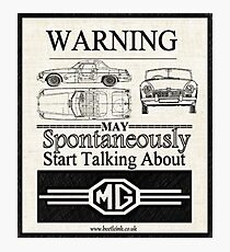Lámina fotográfica Advertencia MG Propietario