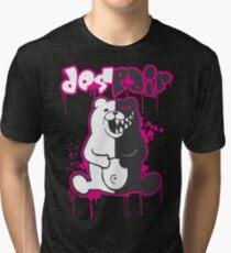 Danganronpa: Monokuma - Despair (Pink) Tri-blend T-Shirt