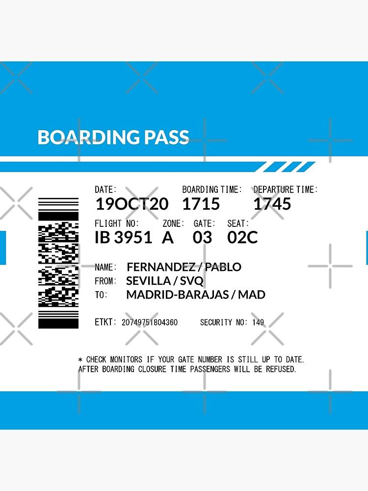 Boarding Pass (blue) by twgcrazy