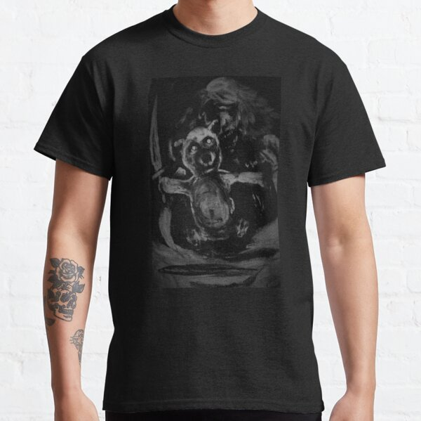 Ghost Girl & Bear with Knives Classic T-Shirt