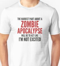 Camiseta ajustada Apocalipsis zombie