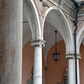Detail of portico with arches and columns by oanaunciuleanu