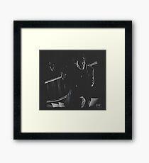 A Study in Black  Framed Print