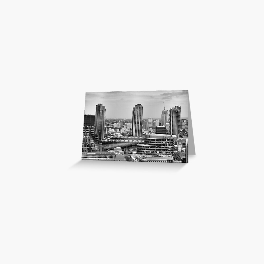 View of the Barbican Estate, London Greeting Card