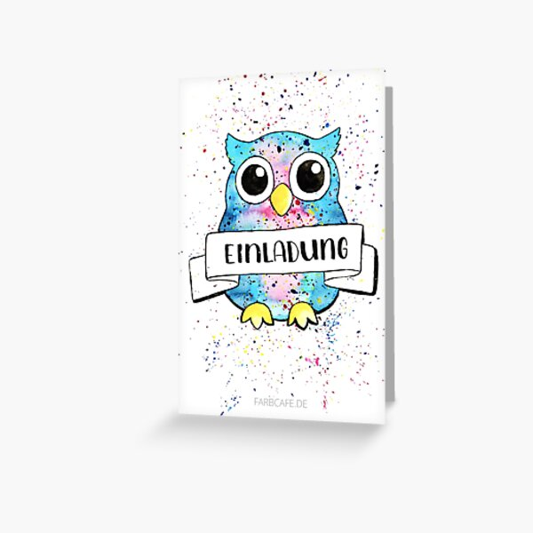 Invitation owl card Greeting Card