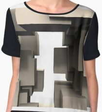 Abstract - Cube Connections Maze Women's Chiffon Top
