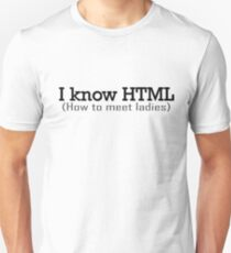 I Know HTML Programming Funny Humor Programmer Jokes  T-Shirt