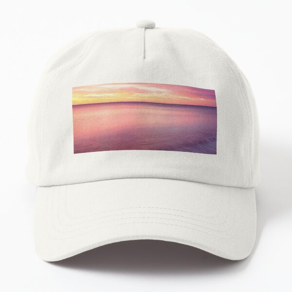 blue cloud sunset Dad Hat