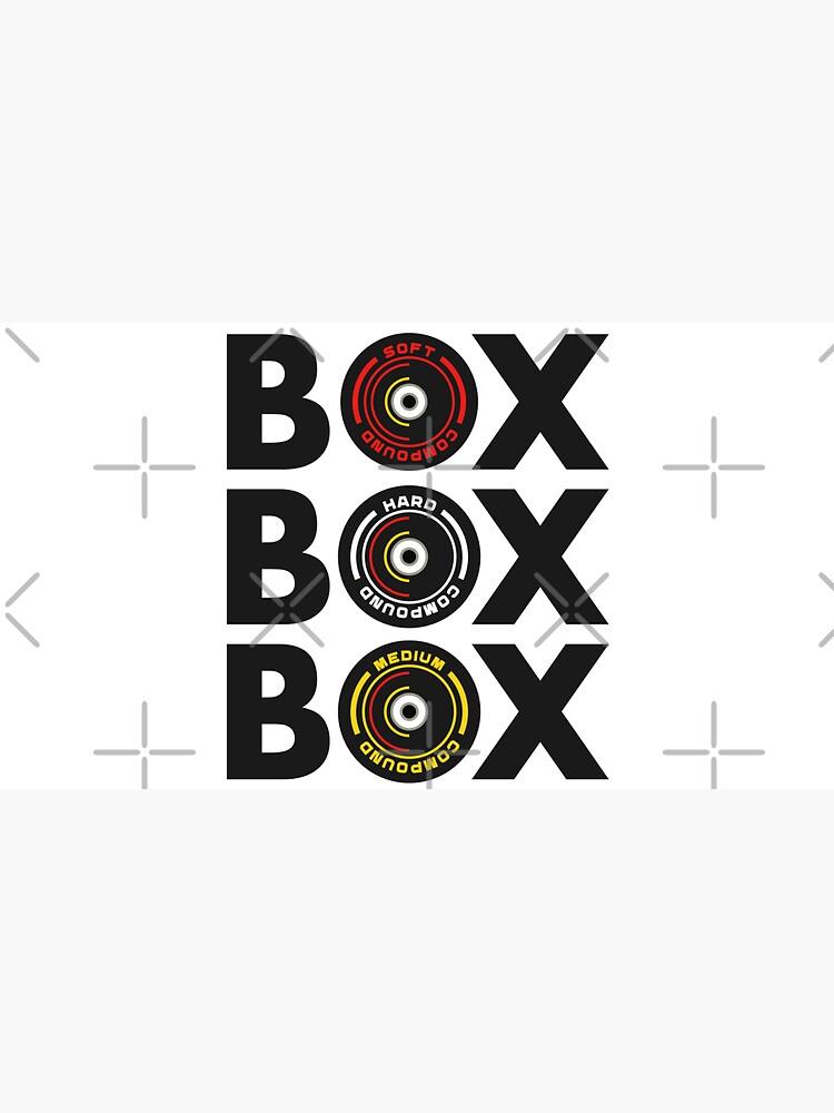 Box Box Box Infographic F1 Tyre Compound Design by davidspeed