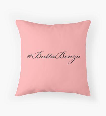 #ButtaBenzo Throw Pillow