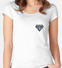 holographic diamond Women's Fitted Scoop T-Shirt