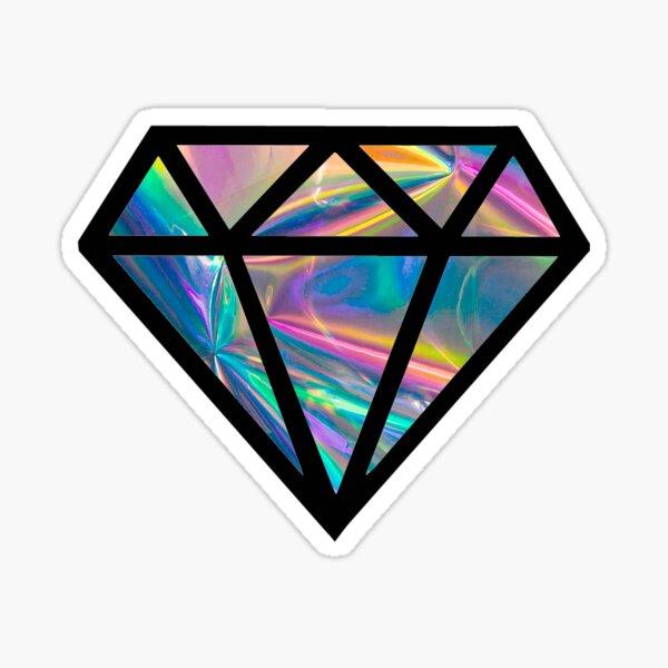 holographic diamond (simulated) Sticker
