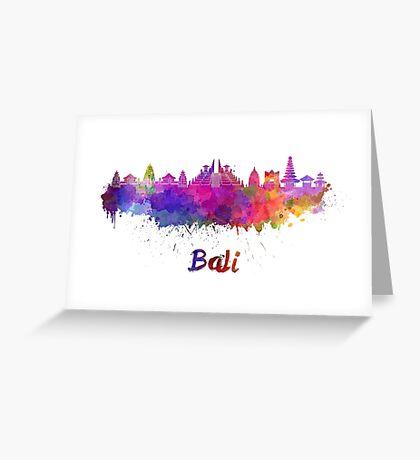 Bali skyline in watercolor Greeting Card