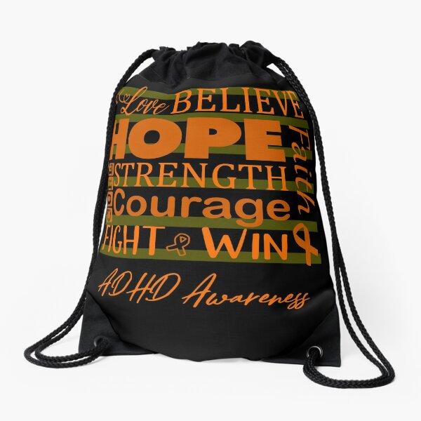 Love Believe Hope ADHD Awareness Drawstring Bag