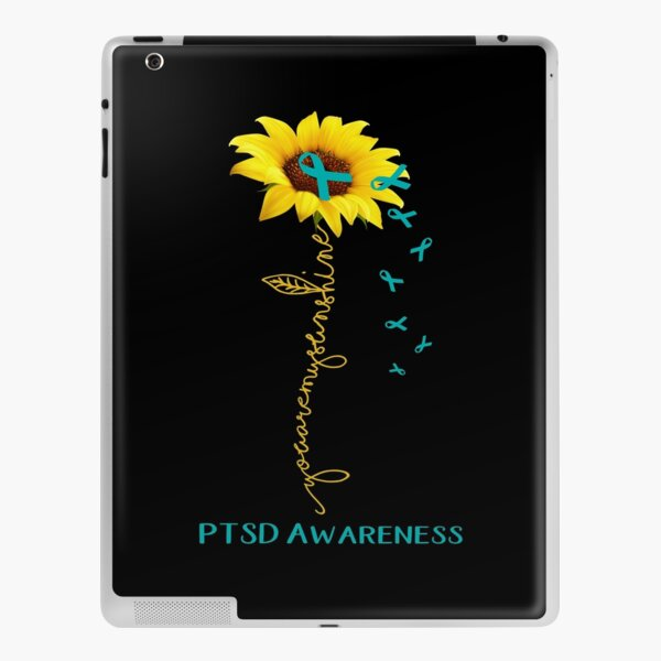 Sunflower You Are My Sunshine PTSD Awareness iPad Skin