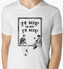 To Be Or Not To be Shakespeare Beer Funny Drinking Quotes Men's V-Neck T-Shirt