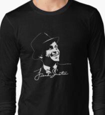 Frank Sinatra - Portrait and signature Long Sleeve T-Shirt