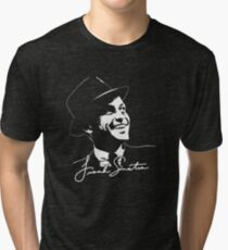 Frank Sinatra - Portrait and signature Tri-blend T-Shirt