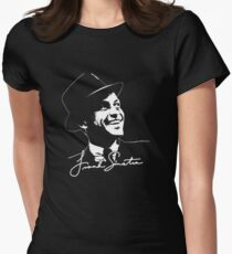 Frank Sinatra - Portrait and signature Womens Fitted T-Shirt