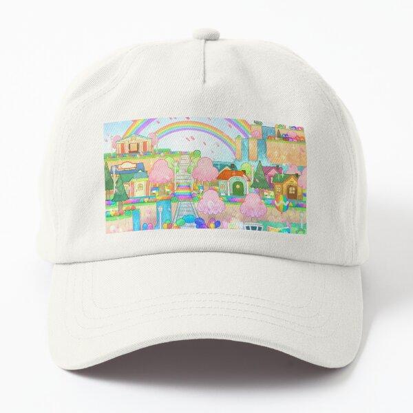 Rainbow City Island Illustration Videogame  Dad Hat