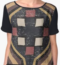 Cool Abstract Enchanting Shapes and Colors Women's Chiffon Top