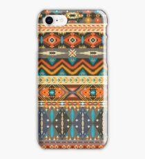 Colorful  tribal pattern with geometric elements iPhone Case/Skin