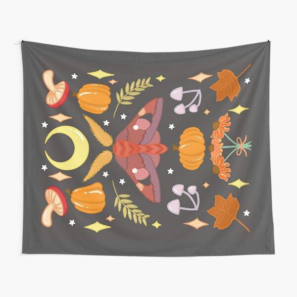 Autumn Moth & Mushrooms Tapestry