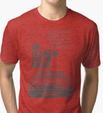NEW Men's Retro Car T-Shirt Tri-blend T-Shirt